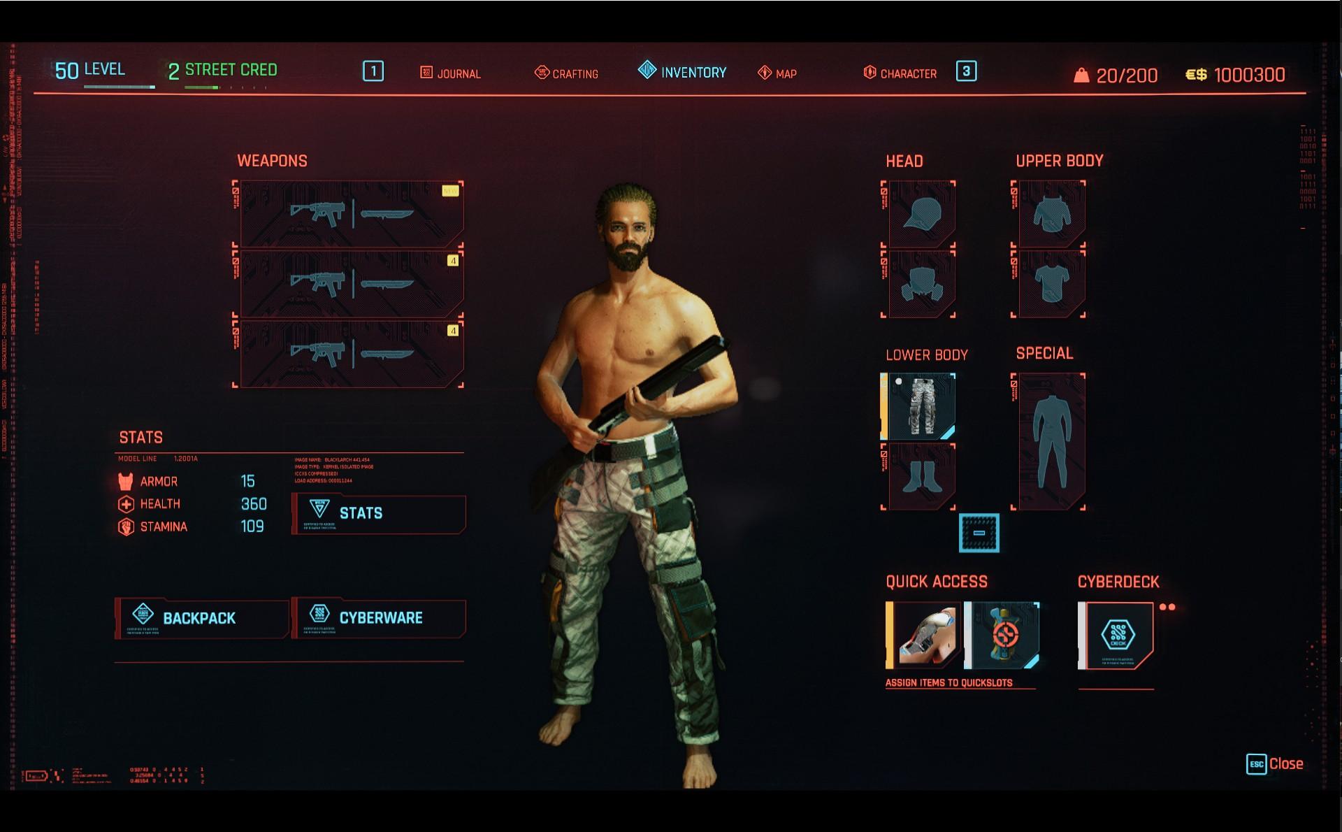 Cyberpunk 2077: Legendary Nomad Level 50