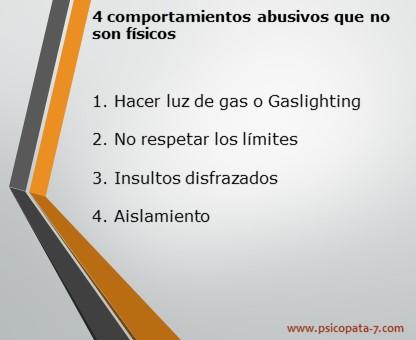 4 Comportamientos abusivos que no son fisicos