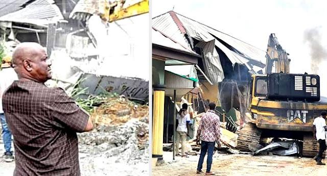 photo of governor wike demolishes two hotels for lockdown coronavirus