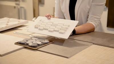 porcelain tiles in smaller size picket-pattern