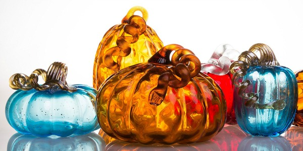 Multi Colored Mercury Glass Pumpkins featured on Walking on Sunshine
