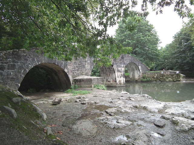 5C Roman bridge over the Nivelle in Ascain. Pyrenees-Atlantiques. France. Photographed by Susan Walter. Tour the Loire Valley with a classic car and a private guide.