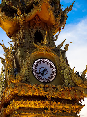 The famous Golden Clocktower of Chiang Rai, North Thailand