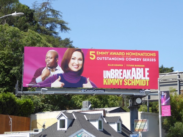 Kimmy Schmidt 2017 Emmy nominee billboard