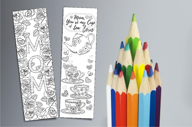 gifts for mom coloring bookmarks