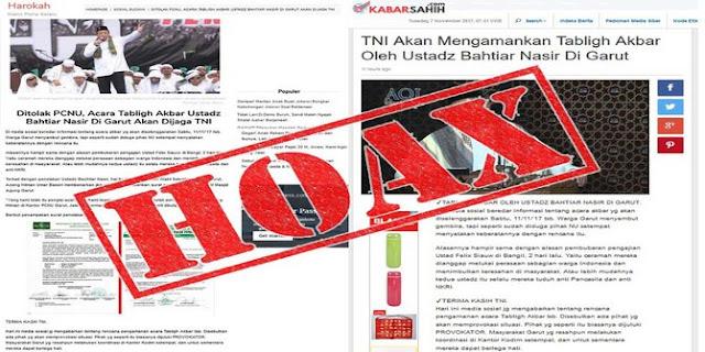 Berita TNI akan kawal Ustaz Bachtiar Nasir & Ketua FPI, Puspen TNI: Hoax again Guys