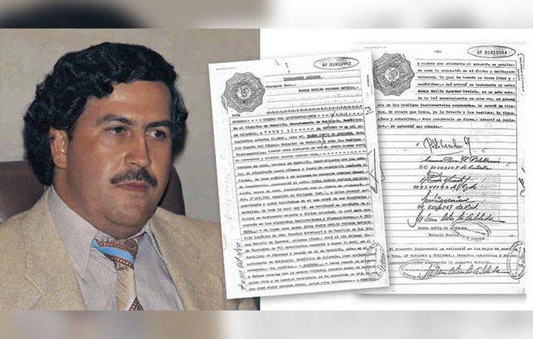 El testamento jamás visto de Pablo Escobar