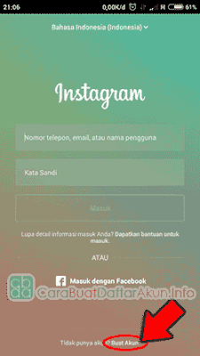 daftar instagram lewat fb
