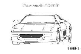 Disegni di Ferrari da colorare