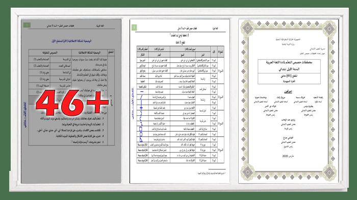 مخططات حصص التعلم لمادة اللغة العربية - المقطع 1 للسنة الأولى ابتدائي