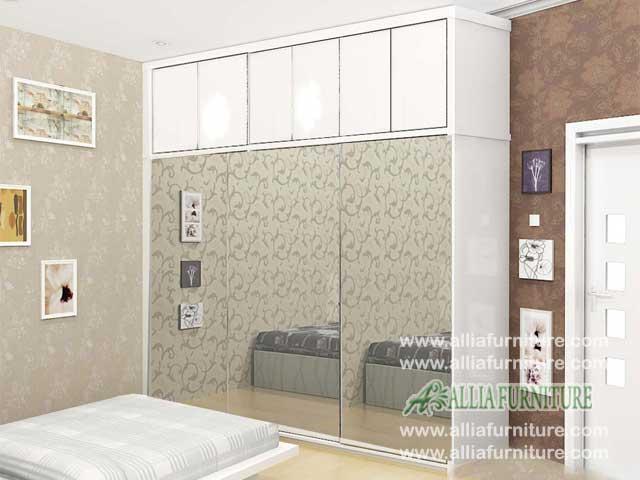 lemari pakaian minimalis 3 pintu unit swiss