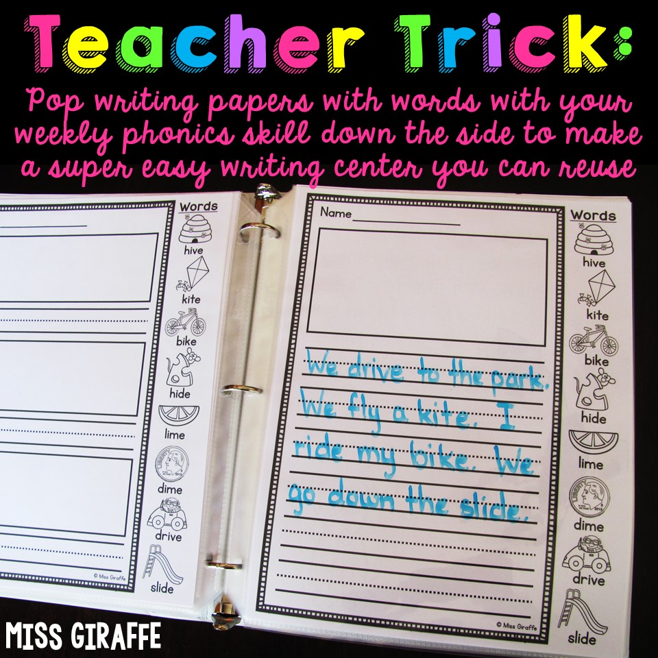 hight resolution of Miss Giraffe's Class: How to Make Writing Fun for 1st Graders