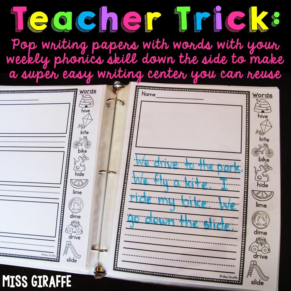 Miss Giraffe's Class: How to Make Writing Fun for 1st Graders [ 960 x 960 Pixel ]
