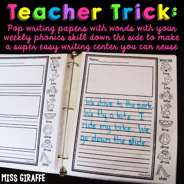 Awesome support for reluctant writers in first grade or kindergarten! You could even use these in 2nd!