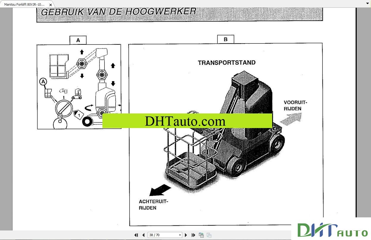 Manitou Forklift MVT930 47960 Parts Manual Manitou Forklift TMT 315, 320  547043DK Parts Manual Manitou Forklift TMT320,523 547043C Parts Manual  MANITOU MLT ...