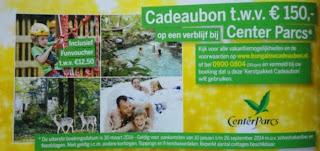 www.bungalowcadeaucheque.nl center parcs 150 euro korting