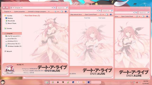 Date A Live Itsuka Kotori Theme Win 7 by Bashkara