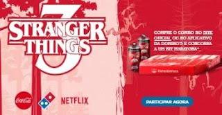 Cadastrar Promoção Coca-Cola e Domino's - Kit Maratona Stranger Things 3