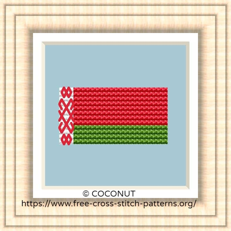 NATIONAL FLAG OF BELARUS CROSS STITCH CHART
