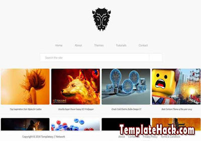 modern portfolio blogger template