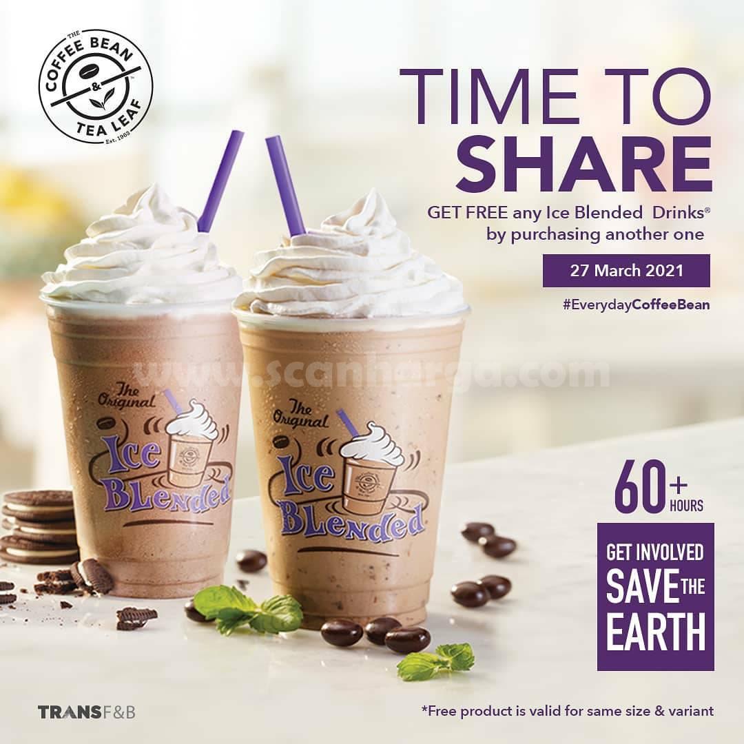 COFFEE BEAN Promo Buy 1 Get 1 Ice Blended Drinks