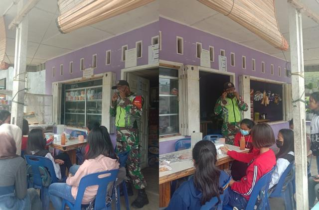 Melalui Koramil 15/Sipintu Angin Jajaran Kodim 0207/Simalungun Laksanakan Himbauan Patuhi Protokol Kesehatan