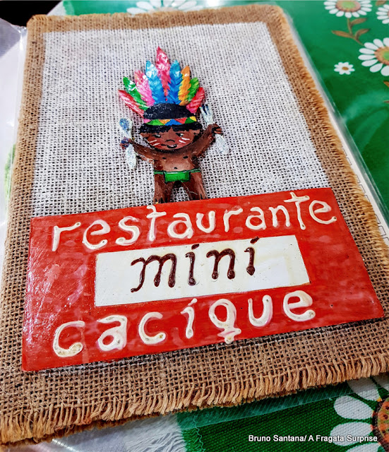 Cardápio do Restaurante Mini Cacique, casa tradicional no Centro Antigo de Salvador