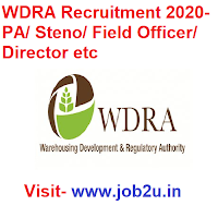WDRA Recruitment 2020, PA/ Steno/ Field Officer/ Director etc