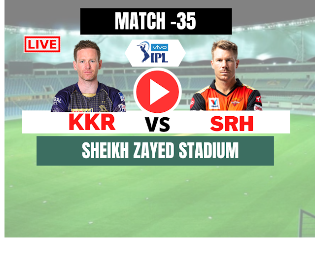 DREAM11 IPL 2020,  SRH VS KKR, MATCH 35, Sunrisers Hyderabad opt to bowl