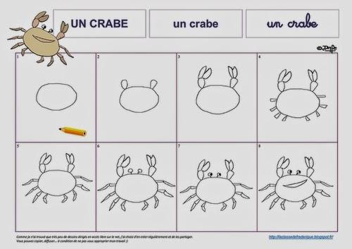 Laclassedefrederique dessins dirig s - Dessiner un crabe ...