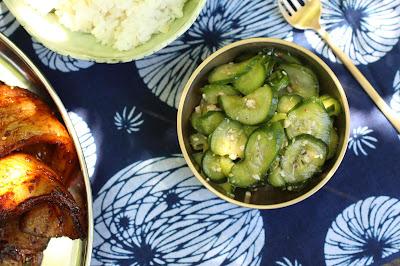 concombre au sesame et noix