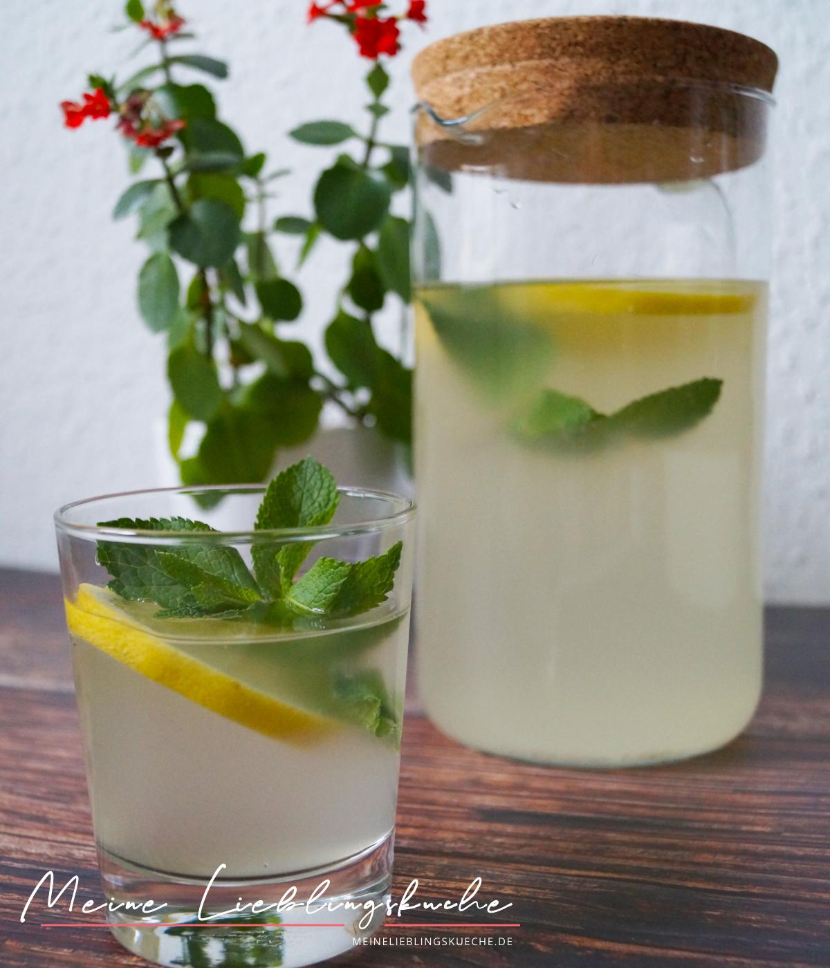Limonade mit Wasserkefir Grundrezept