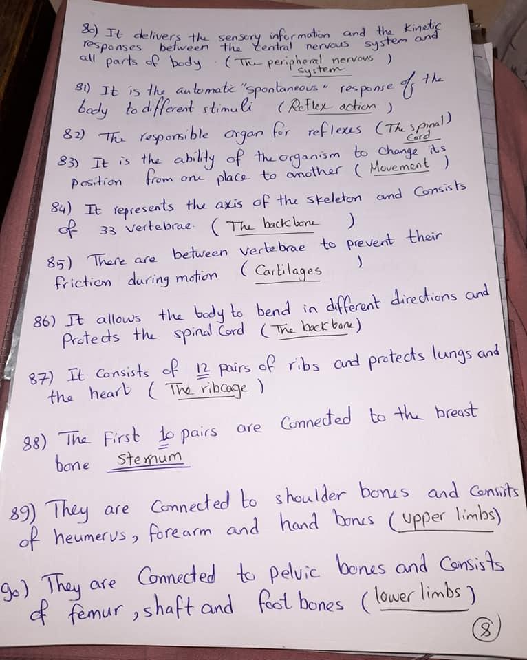 شيت خاص بسؤال write the scientific term علي المنهج كامل grade6_science 8