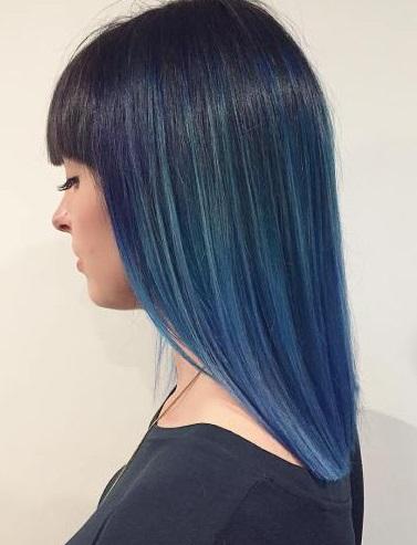 rambut lurus cat biru