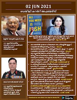Daily Malayalam Current Affairs 02 Jun 2021