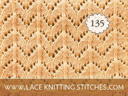 Horseshoe Lace Knit Stitch