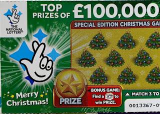 £1 Green Christmas Scratchcard