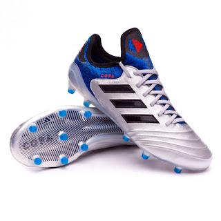 ADIDAS COPA 18.1 FG Silver metallic-Core black-Football blue