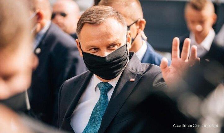 Presidente de Polonia Andrzej Duda en marcha por la vida