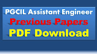 PGCIL AE Previous Papers PDF Download