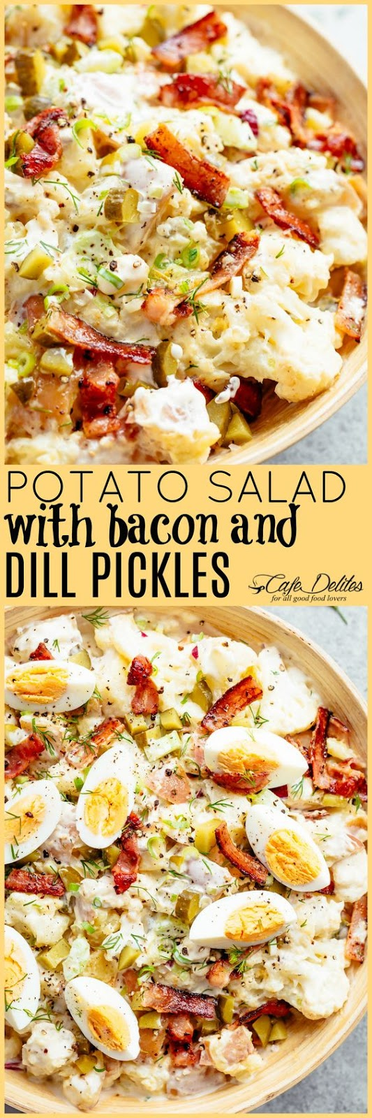 Potato Salad with Bacon, Eggs and Dill Pickles