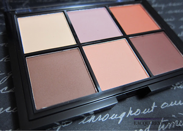 eye makeup swatches and review of the NYX Cosmetics Lid Lingerie Shadow Palette