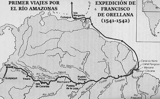 Descubrimiento del Amazonas por Francisco de Orellana Mapa-expedici%25C3%25B3n-Francisco-Orellana-Amazonas