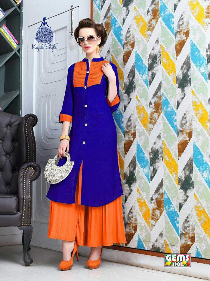 Kajal Style Gems Vol 1 – Stylish & Fashionable Long Straight Kurti