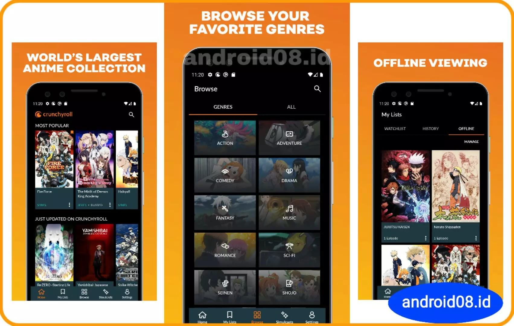 Rekomendasi Aplikasi Nonton Anime di Android