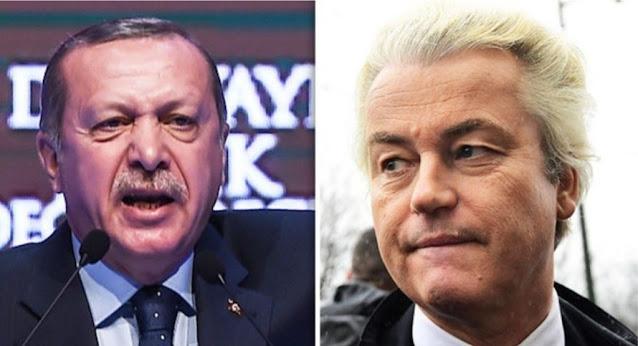 Erdogan accusa il leader olandese di estrema destra Geert Wilders per averlo definito un terrorista