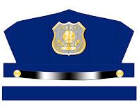Sombrero policía en color para imprimir y armar