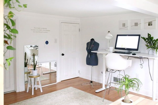 add office and workspace to a guest room