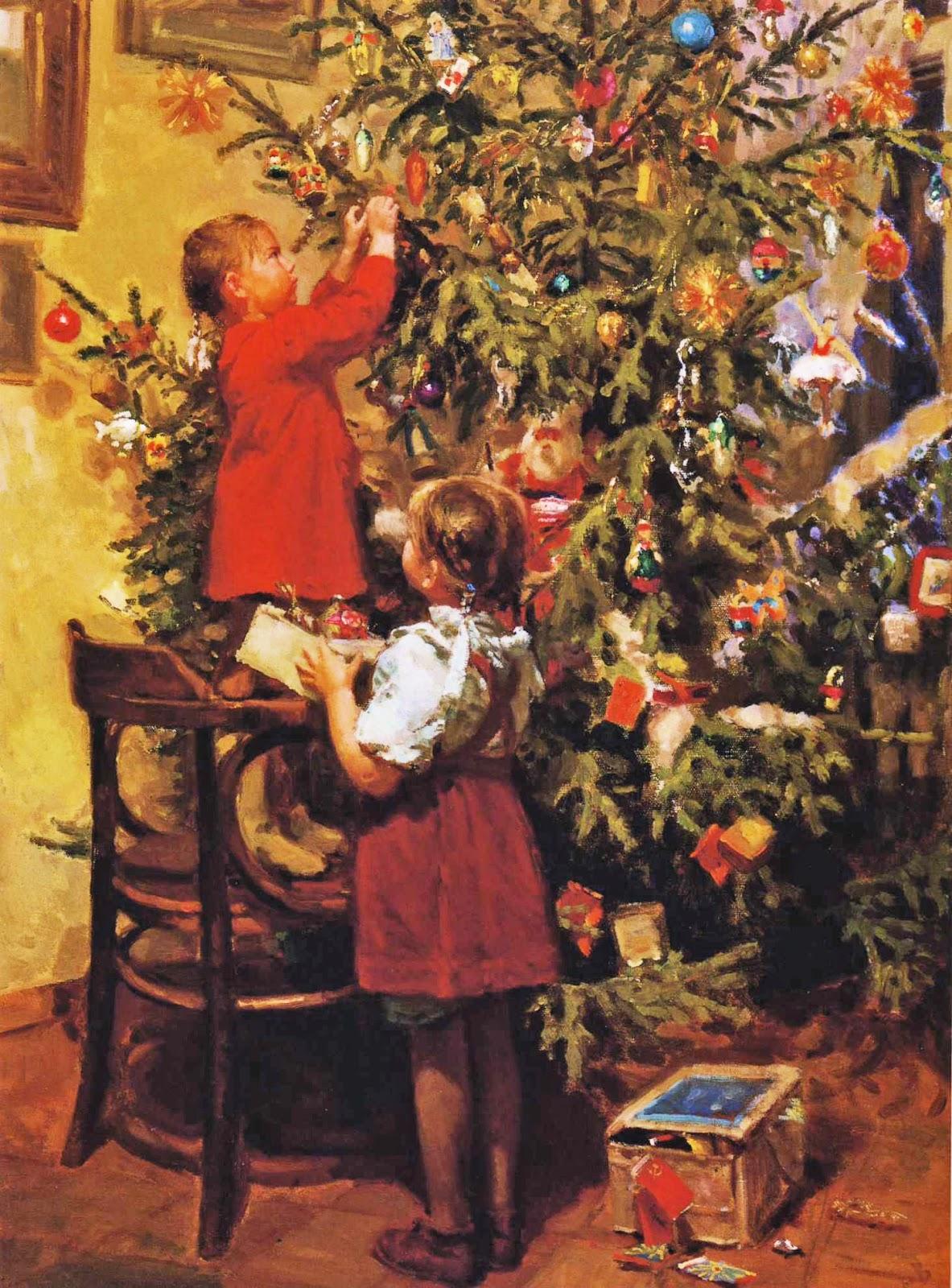 Soviet Art Decorating The New Year S Tree