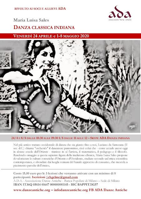 danza indiana bharata natyam lezioni online skype